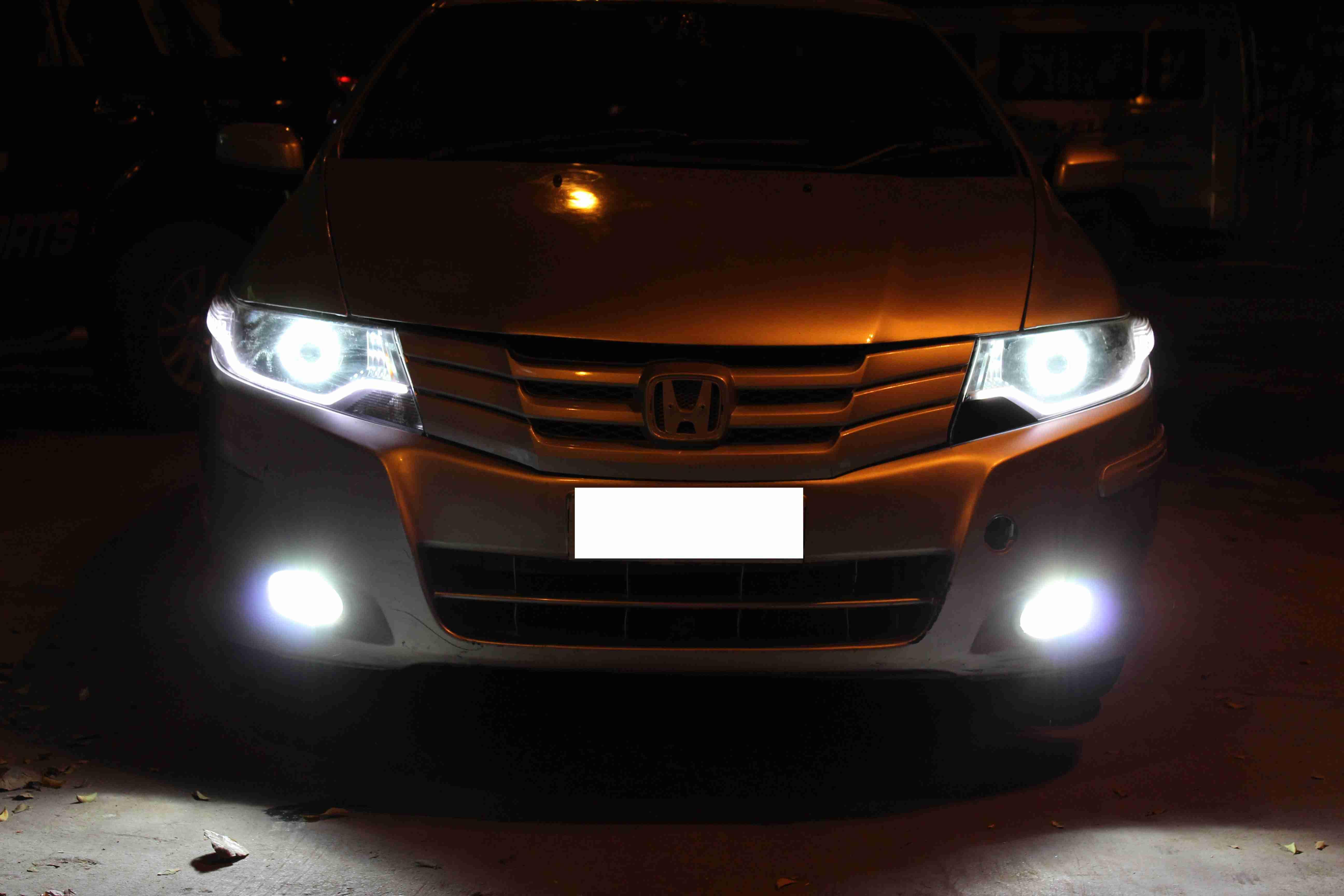 Honda Vehicle Headlights : Honda city i vtec projector headlight with day running led