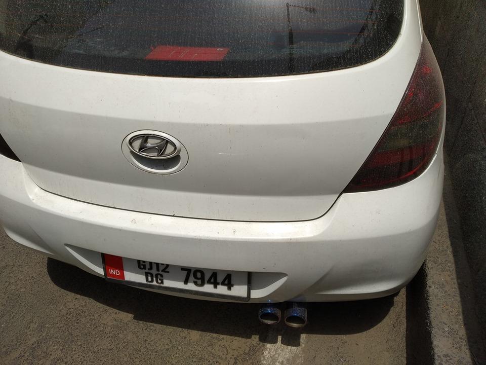 HKS Dual Tip Exhaust In I20 Petrol