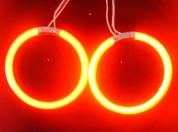 CCFL ANGEL EYES-YELLOW-80mm PAIR