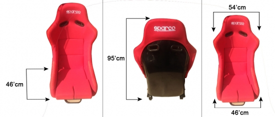 Sparco Seat Fix Red Colour {SINGLE}