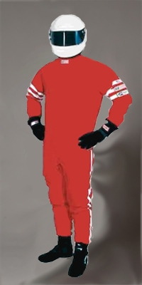 R.J.S Racing Suit SFI 3.2A/1 RED COLOUR MEDIUM SIZE