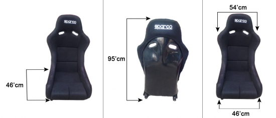SPARCO RACING SEAT BLACK FIXED (SINGLE)