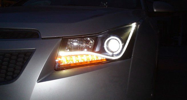 Head Lamp Projector CCFL For CRUZE Black Color(V2)no