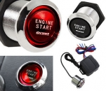 Pivot Illumi Universal Car Engine Start Push Button Switch Ignition Starter Kit - Red LEDno