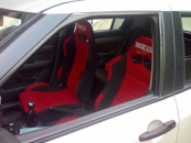 SPARCO RACING SEAT BLACK & RED (FIXED) PAIRno