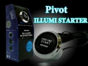 Pivot Illumi Universal Car Engine Start Push Button Switch Ignition Starter Kit - Blue LEDno