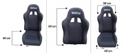 Sparco Seat Recline BLack Colour (SINGLE)no