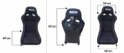 SPARCO RACING SEAT BLACK FIXED (SINGLE)no